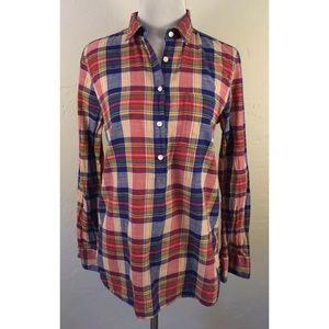 J. Crew Factory Paid Gauze Shirt in Boy Fit, XS